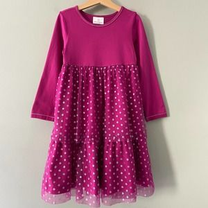 Hanna Andersson Shimmer Dot Twirl Tulle Dress 6/7